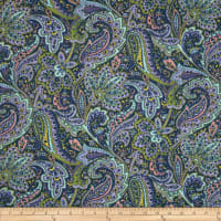 Dover Flannel Paisley Navy