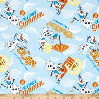 Disney Frozen Olaf Celebrate Summer Allover Light Blue