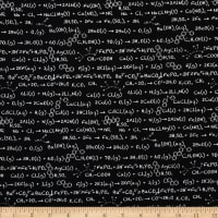 Riley Blake Novelty Equation Black
