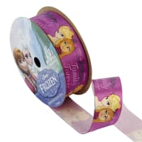 "7/8"" Frozen Ribbon Family Purple 3YD Spool"