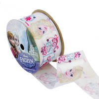"1 1/2"" Frozen Ribbon Elsa White 3YD Spool"