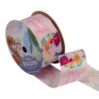 "1 1/2"" Frozen Ribbon Family Forever Pink 3YD Spool"