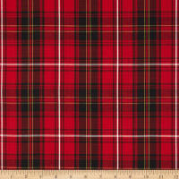 House of Wales  Lawn Plaid Red