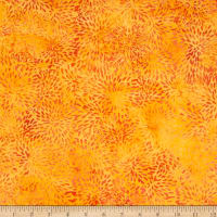 Island Batik Rayon Batik Candy Corn Orange