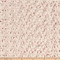 Shannon Minky Luxe Cuddle Frosted Rose Coral/Beige