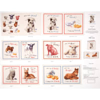 Animal Friends Soft Book Panel Cream