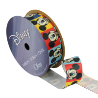 "7/8"" Mickey Mouse Ribbon Blockheads Multi"