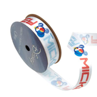 "7/8"" Mickey Mouse Ribbon Name Gear White"