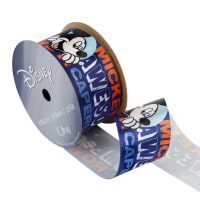"1 1/2"" Mickey Mouse Ribbon Circles Blue"