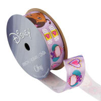 "7/8"" Doc McStuffins Ribbon One Hug White"
