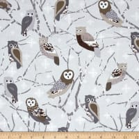 Kanvas Shades of Winter Snowy Owls Silver