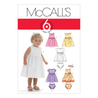 McCall's M6015 Infants' Lined Dresses, Panties And Headband Pattern OSZ (One Size)