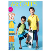 McCall's M6548 Children's/Boys' Shirt, Top and Shorts Pattern Size CCE (Sizes 3-4-5-6)