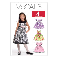 McCall's M5793 Children's/Girls' Lined Dresses Pattern CDD (Sizes 2-3-4-5)