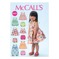 McCall's M6944 Children's/Girls' Top, Dresses, Shorts and Leggings Pattern CAA (Sizes ½-1-2-3-4)