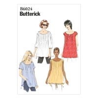 Butterick B6024 Misses' Top Pattern Size 0Y0