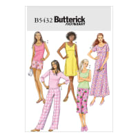 Butterick Misses'/Misses' Petite Top, Gown, Shorts and Pants Pattern B5432 Size 0Y0
