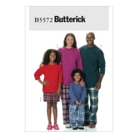 Butterick B5572 Misses'/Men's/Children's/Boys'/Girls' Top, Shorts and Pants Pattern Size ADT