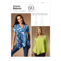 Butterick B5999 Misses'/Women's Top Pattern Size MIS