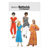 Butterick B5652 Misses' Top, Dress, Caftan, Jumpsuit and Pants Pattern Size 0Y0