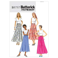 Butterick B5757 Misses' Skirt Pattern Size 0Y0