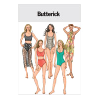 Butterick Misses' Swimsuit and Wrap Pattern B4526 Size AA0