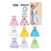 Butterick B3350 Children's/Girls' Drindl Dress Pattern 020