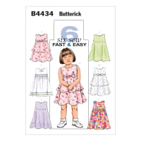 Butterick Toddlers'/Children's Dress Pattern B4434 Size CB0