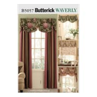 Butterick B5057 Window Treatments Pattern Size OSZ (One Size)