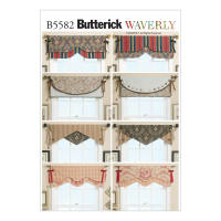 Butterick B5582 Reversible Window Valance Pattern OSZ (One Size)