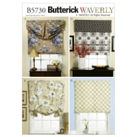 Butterick B5730 Window Shade and Valance Pattern OSZ (One Size)