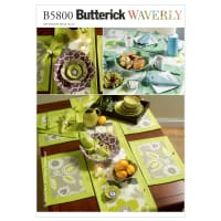 Butterick B5800 Napkins, Placemats, Table Runner, Table Cloth  Pattern OSZ (One Size)