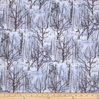 Kanvas The Great North Wilderness Flannel Winter Forest Silver Grey