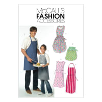 McCall's M5551 Misses'/ Men's/ Children's/ Boys'/ Girls' Aprons Pattern OSZ (One Size)