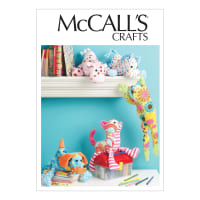 McCall's M6485 Stuffed Animals Pattern OSZ (One Size)