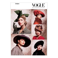Vogue Vintage Hats Pattern V7464 Size OSZ