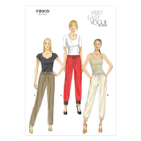 Vogue Misses' Pants Pattern V8909 Size 0Y0