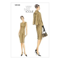 Vogue Misses'/Misses' Petite Jacket and Dress Pattern V8146 Size AA0