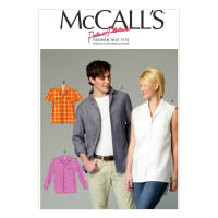McCall's M6932 Misses'/Men's Shirts Pattern Size XM0