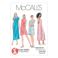 McCall's Misses' Dress In 2 Lengths Pattern M6102 Size 0B0