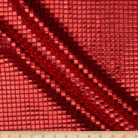 Sequin Check Mesh Red