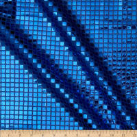 Sequin Check Fabric Royal