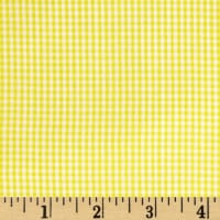 Wide Width Gingham Check 1/16'' Yellow