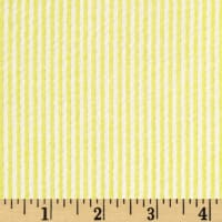 Cotton Seersucker Stripe Yellow/White
