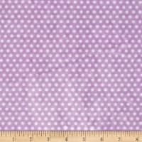Shannon Minky Cuddle Swiss Dot Lilac/Snow