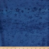 Shannon Minky Cuddle Embossed Star Midnight Blue