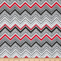 Patterned Chevron Grey