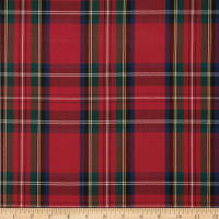Polyester Uniform Plaid Red/Green/Blue Poplin