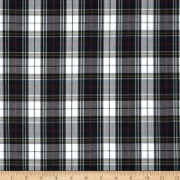 Polyester Uniform Plaid Black/White/Red Poplin