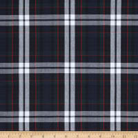 Poly/Cotton Uniform Plaid Red/Green/White Poplin